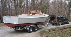 Bay Power Cruiser 23 on the trailer