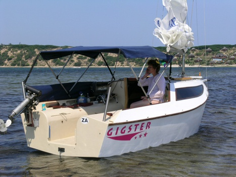 Adelie 16 with bimini