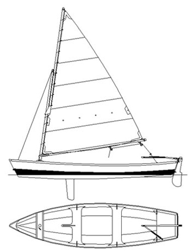 Otter 16. [OT16] An able open rowing skiff with an ...