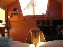 Cabin aft view