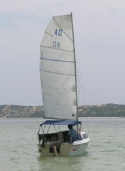 Adelie 16 sailing