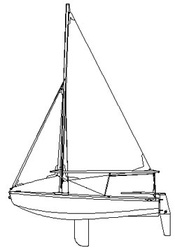 Sprit Rig Sail Plan