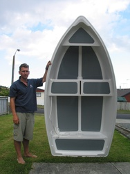 Ben Howson with his Dixi Dinghy