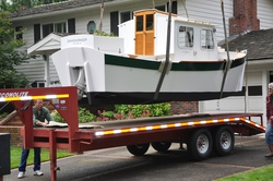 Redwing 21 Pilothouse Almost on the trailer