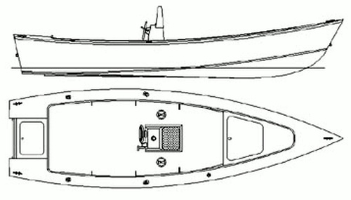Panga 22. [PG22] A rugged work boat style vee hull, simple to build and economical to operate