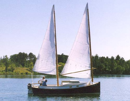 A Catbird 18 with a hull stretched to 21