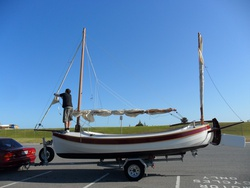 6M Whaler on the trailer