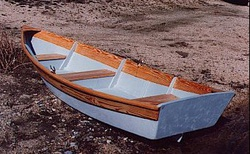 Bay Skiff 12 on the beach