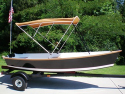Flat Skiff 12 with tent