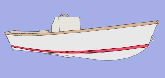 Fast Skiff 17. [FS17] An easy to build but able vee hull