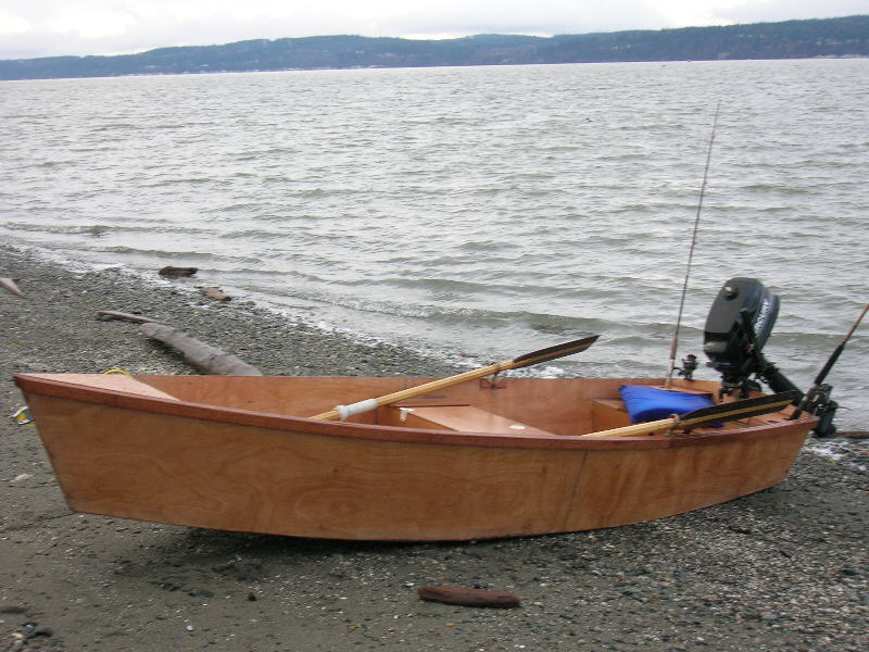 Flat Skiff 12. [FL12] General purpose skiff, very easy to build. Oars ...