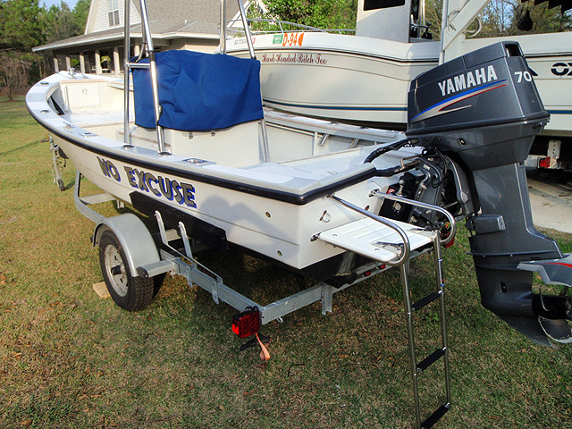 Outboard Dory 18. [OD18] Fast planing boat
