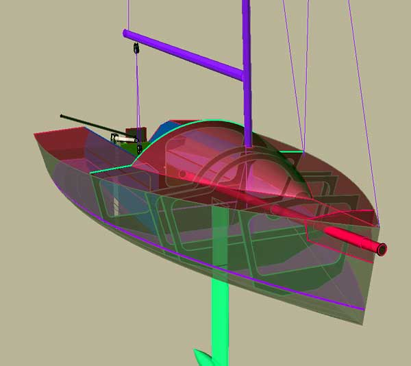 Sport Boat 18. [SB18] A trailerable high performance sail boat with lifting keel