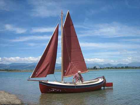 6 M Whaler. A clinker built double ender in the traditional Navy style
